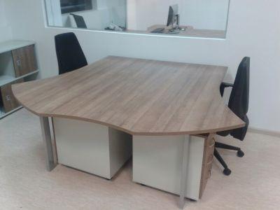 48770 Bench desk system with two desks Offisphera