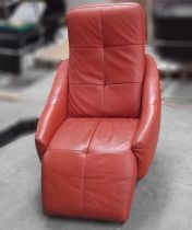 08190 Leather relaxation armchair