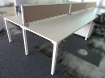 09466 Set of Desks with divider, Steelcase